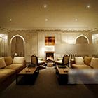 European Warm Living Room Door Interior