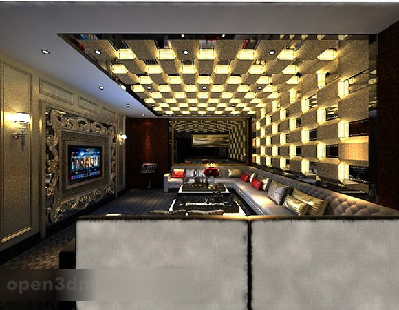 European Luxury Karaoke Room Interior