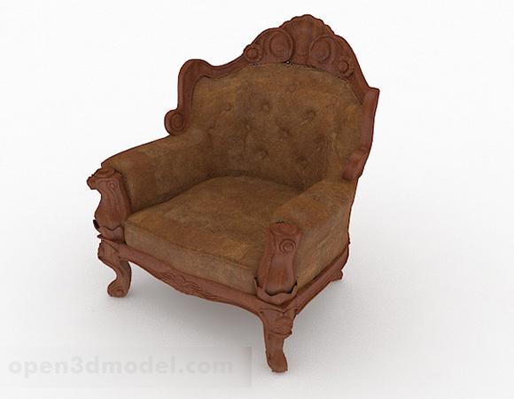 Eurooppalainen puinen yksittäinen nojatuoli