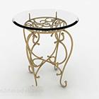 European Retro Glass Table