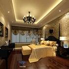 European Style Bedroom Warm Lighting Interior