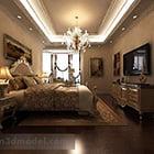 European Style Bedroom Interior
