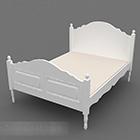 Nábytek Evropská bílá manželská postel