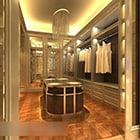 Warm Lighting Clothing Showroom Interior