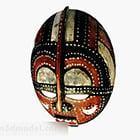 Divertente decorazione colorata maschera di legno