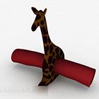 Decorazione domestica della statua della giraffa