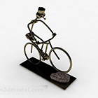 Metal Bicycle Statue Decoration