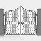 Cancello di ferro grigio