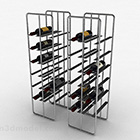 Gray Metal Wine Rack