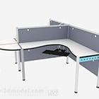 Gray Mdf Minimalist Desk