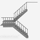 Decorazioni per scale in legno grigio