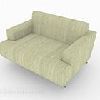 Sedia da divano verde Mobili V1