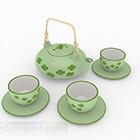 Zestaw zielonej herbaty ceramicznej