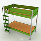 Green Bunk Bed Single Bed