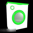 עומס קדמי של מכונת כביסה ירוקה