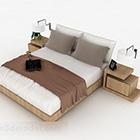 Domácí jednoduchá manželská postel