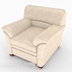 Domácí béžová Single Sofa Decor