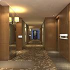 Bahagian Dalaman Hotel Aisle Corridor