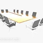 Konferenztisch und Stühle Design