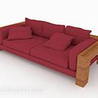 Idyllic Red Double Sofa