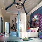 Interiér ložnice se středomořským stylem V1