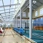 Międzynarodowe wnętrze badmintona