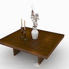 Japanese Style Brown Wooden Coffee Table Furniture