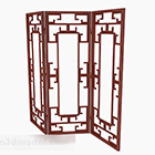 Three Sided Wooden Screen