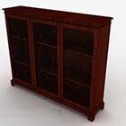 Wooden Three Door Display Cabinet