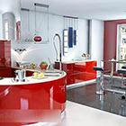 Modern Kitchen With Bar Design