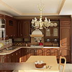 Cucina in legno Set completo Design interno