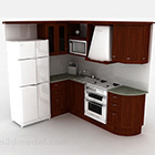 L Shaped Kitchen Solid Wood Cabinet
