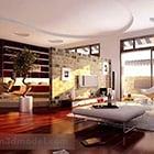 Décoration de salon intérieur V1