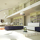 Bibliotekdesign interiör