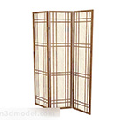 Light Brown Three Sides Wooden Screen