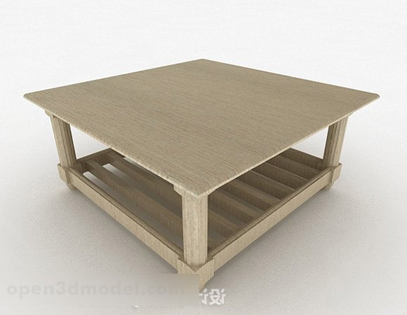 Brown Wooden Coffee Table Furniture V9 Free 3d Model Max Open3dmodel 333534