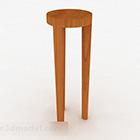 Wooden Three Legged Chair