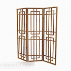 Light Wood Three Sided Screen Partition