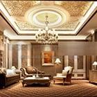 غرفة المعيشة الفاخرة الكلاسيكية 916 الداخلية