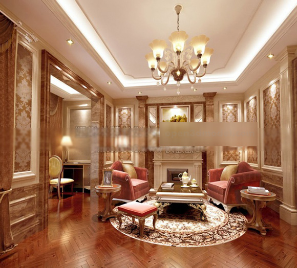 Living Room Classic Design Interior 3d Model Max Vray Open3dmodel 324571
