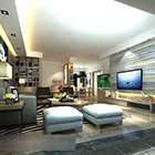 Living Room Tv Background Wall Interior