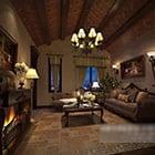 Living Room Loft Ceiling Decoration Interior