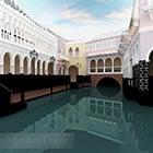 הבניין העתיק בוונציה החיצונית