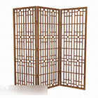 Wooden Color Three Sided Screen