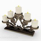Metalowa rzeźbiona świecznik
