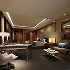 غرفة نوم رئيسية التصميم الأنيق