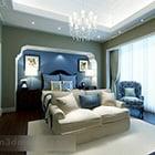 Interiér středomořské ložnice