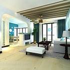 Akdeniz minimalist oturma odası iç