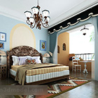 Interiér ložnice pro dívky ve středomořském stylu