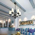 Interiér obývacího pokoje ve středomořském stylu
